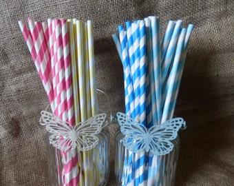 Retro paper straws. stripey paper straws. Drinking straws.