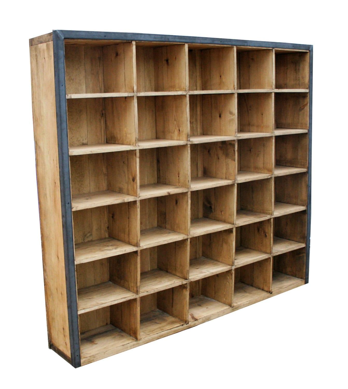 Industrial Design Box Style Shelf Unit. Freestanding Retro