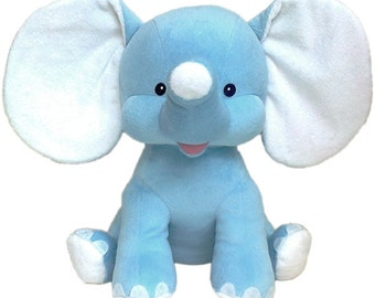 Personalized Stuffed Animal-Dumble Elephant-Blue