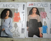 242) Mccalls 5324 Misses Size 4 6 8 10 12 Semi fitted pullover top Mccalls 5754  Easy Misses Size 6 8 10 12 Pullover Top with yoke