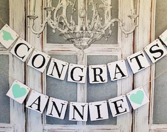 GRADUATION DECORATIONS - Congrats 2017 BANNERS Commencement - Rustic Graduation Party Decorations