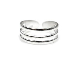 Sterling Silver Triple Toe Ring