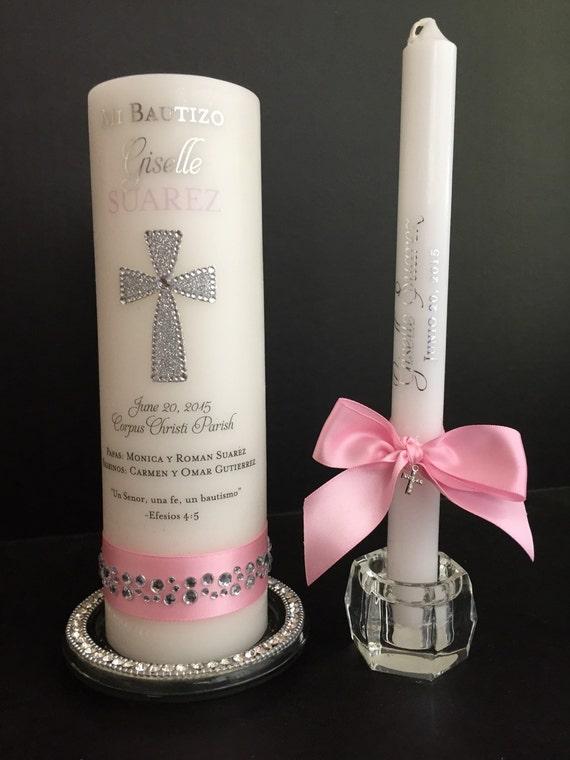 Personalized candle set Baptism candle set baby dedication