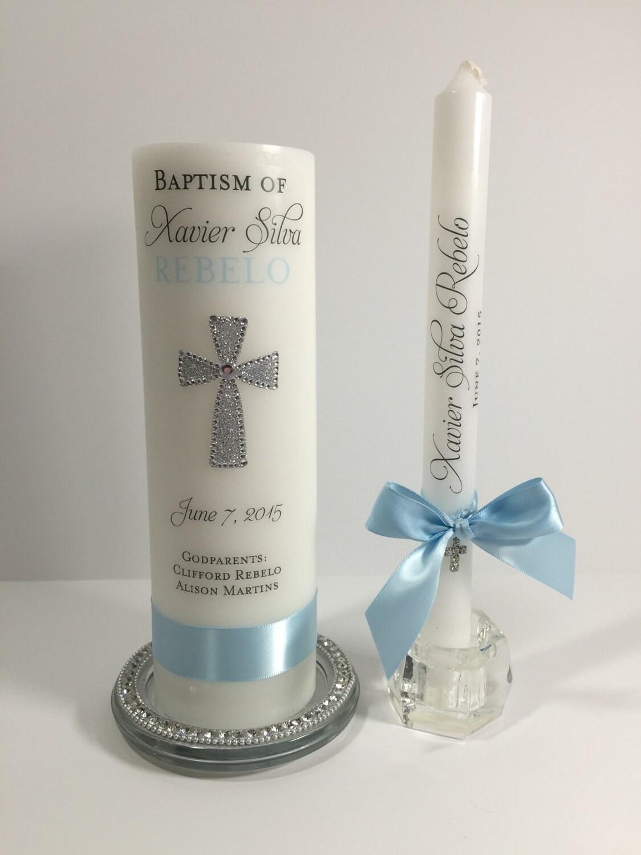 Christmas Decorating Ideas Custom Baptism Candle Set Personalized Baptism Candle