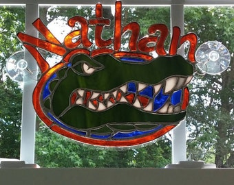 Stained Glass Name Plate Suncatcher