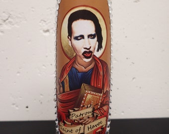 Marilyn Manson Prayer Candle