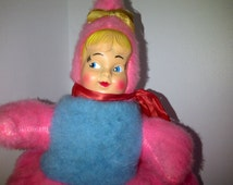 Vintage Pajama Bag Doll Rubber Face Made in Toronto