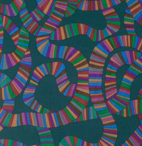 ROLLER COASTER CHARCOAL BM049 by Brandon Mably for Kaffe Fassett Collective Sold in 1/2 yd increments