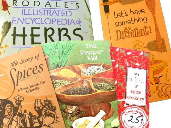 5 Vintage Spices Herbs Cookbooks on Their Use and Origin