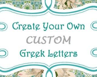 custom greek letter shirt
