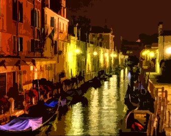 "Needlepoint canvas "" Venice.Night"" (SC048)"