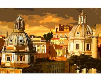 "Needlepoint canvas "" Rome"" (SC050)"