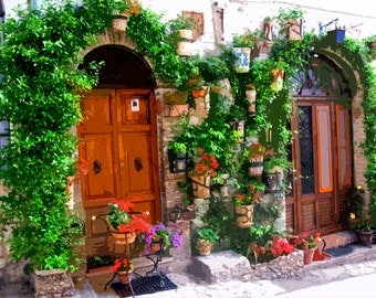 """Needlepoint canvas """" Assisi Streets.Italy"""" (SC057)"""