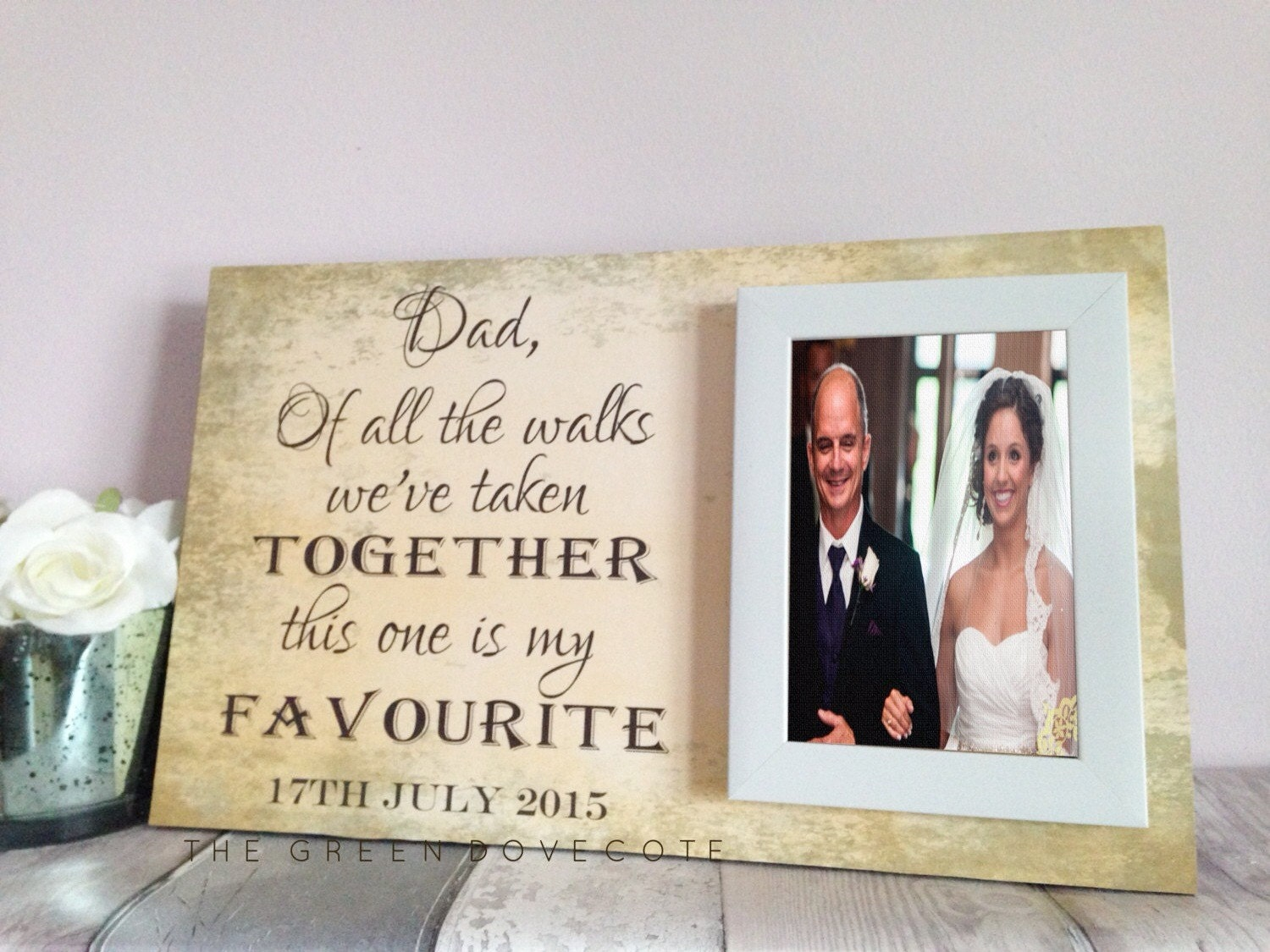 Wedding Gift For Parents Personalized Picture Frame Thank