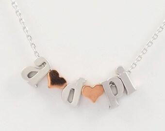 """ADPi Jewelry, Alpha Delta Pi aka """"adpi"""" Sorority Necklace / ADPi Necklace / Sorority Jewelry / Alpha Delta Pi Jewelry / ADPi Gift"""