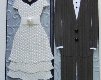 Elegant Bride and Groom Wedding Card
