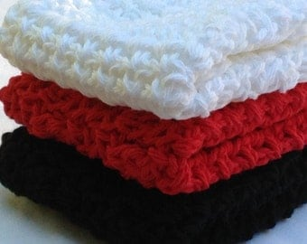 Crochet Cluster dishcloth washcloth