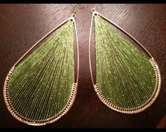 "Gorgeous ""green with eny"" Earrings"