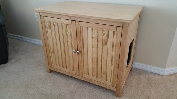 Odor Free Double Cat Litter Box Cabinet By