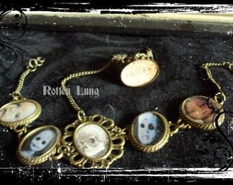 Slave bracelet cameo creepy dolls poison ring gothic victorian
