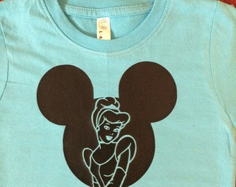 Cindy in a mouse head outline shirt or bodysuit