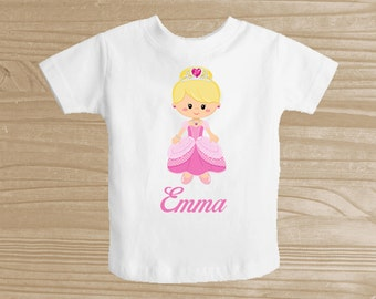 Personalized Princess Baby Bodysuit for Girls - Pink Princess Infant Creeper - Baby Girl Personalized Bodysuit or T-Shirt - Custom One Piece