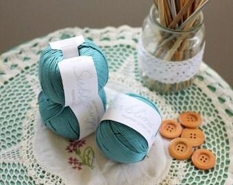 Egyptian Cotton DK Yarn Blue Sublime 8ply Hand Knitting Yarn Crochet