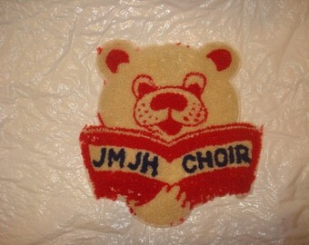 Vintage Jr. High Choir Letterman Jacket Patch Bear/Cub JM JH Choir