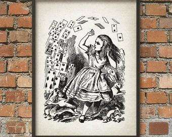 Alice in Wonderland Wall Art Poster - Nursery Home Decor (AL3)