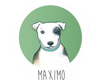 Custom Dog Portrait - Personalized pet illustration - Custom Pet portrait - Dog photo -Wall decor - Digital file only - Printable art - Gift