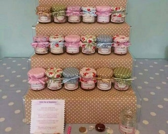 Little pots of happiness, vintage style wedding favours/gifts
