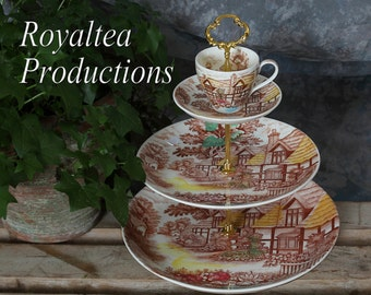 ENGLISH COTTAGE ~ 3 Tier Stand