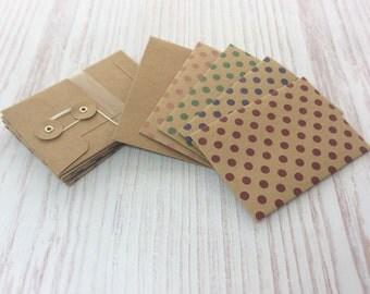 Coin Envelopes, Mini String Tie Envelopes, Gift Card Holders or Sleeve