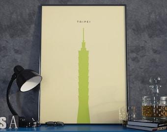 Taipei 101 Building Print. Poster.