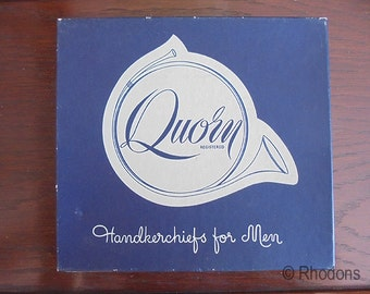Vintage Men's Boxed Unused Handkerchiefs x 3 - Quorn - 1970's