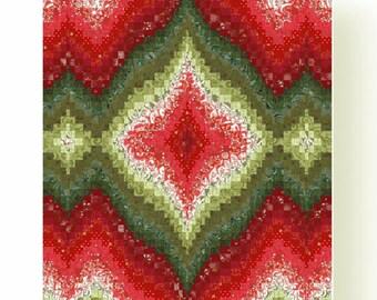 Christmas Ornament Bargello Quilt Pattern PDF