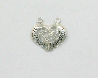 Sterling Silver Mother & Daughter Breakaway Charm
