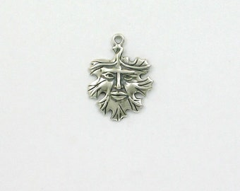 Sterling Silver Green Man Charm