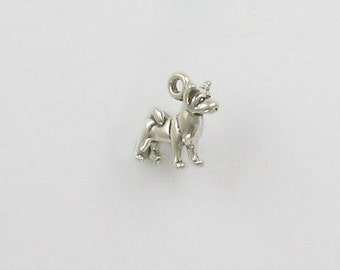Sterling Silver 3-D Miniature Akita Charm