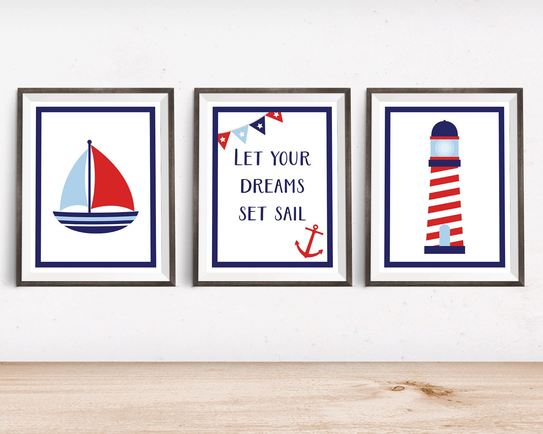 Nautical Nursery Decor Nautical Nursery Art Printable - cheap home decor for nautical nursery