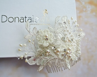Wedding Hair Comb Bridal Hair Comb Bridal Headpiece Hair Comb Head piece - MAIA