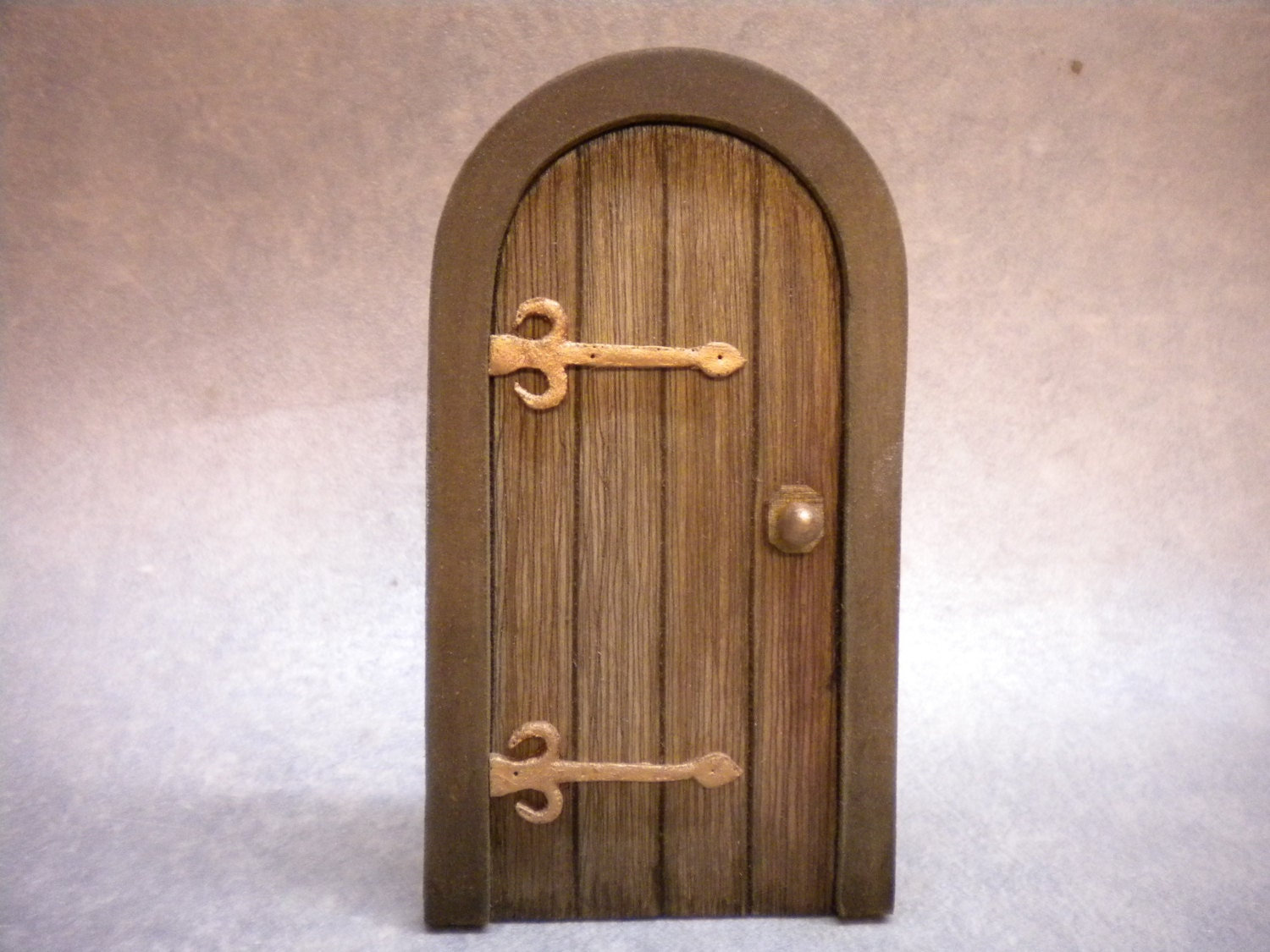 Dollhouse miniature door tudor door medieval cottage door for Mini fairy door