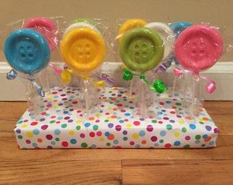 Button Chocolate Lollipops