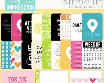 Digital Scrapbook Kit-Everyday Life Project Life Cards