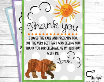 Brown Bear Brown Bear Thank You Card