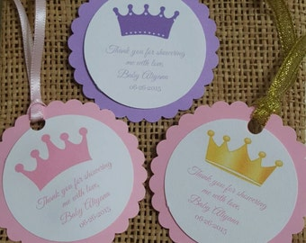 Personalized Favor Tags 2 1/2'', Baby Girl Shower  tags, Thank You tags, Favor tags, Gift tags,