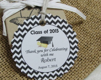 "Personalized 2 1/2"" Favor Tags ,  Wedding tags, Thank You tags, Favor tags, Gift tags, Bridal Shower, Graduation tag"
