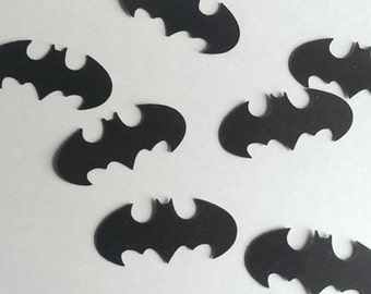 120 Batman Inspired Paper Confetti, Table Scatter, Cutouts Birthday, Wedding, Bridal Shower Die Cuts, Scrapbook Embellishments Decorations