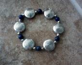 Reserved for Amber: Lapis lazuli bracelet