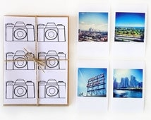 Cameras Stationery- Five handmade cards, featuring hand illustrated design, printed onto natural white/kraft card stock.